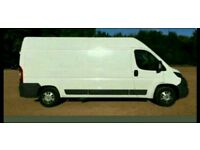 Courier service nationwide delivery man with a van