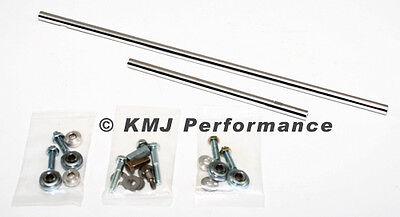Shotgun Style Intake Hood Air Scoop To Dual Carburetor Carb Linkage Kit Set