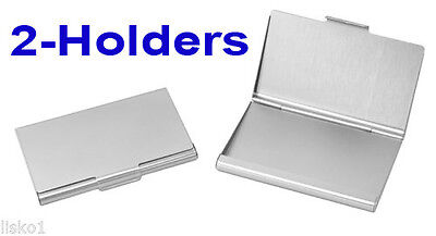 Tz Case Business Card Holder All Metal Pocket Size 2 - Silver Anc004s