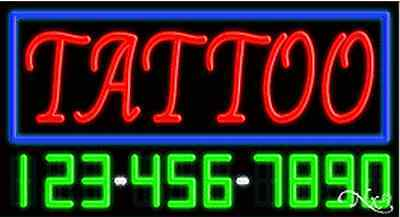 New Tattoo Wyour Phone Number 37x20 Real Neon Sign Wcustom Options 15107