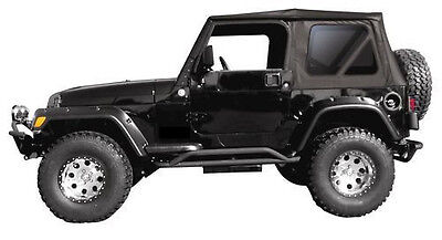 - Replacement Black Soft Top and Rear Tinted Windows 97-2006 FOR Jeep Wrangler TJ