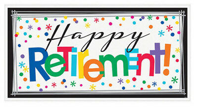 Happy Retirement Decorations (HAPPY RETIREMENT Scene Setter party wall banner poster backdrop work)