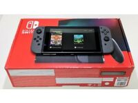 Nintendo Switch Console 32GB Grey Version 2 Improved Battery AS NEW
