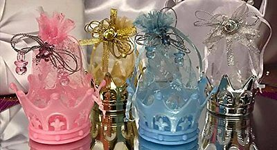 Baby Shower or Birthday Fillable Crown Favors Prince Princess Decorations Gifts