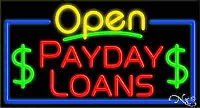 New  Open Payday Loans  37X20 Real Neon Sign W Custom Options 15550