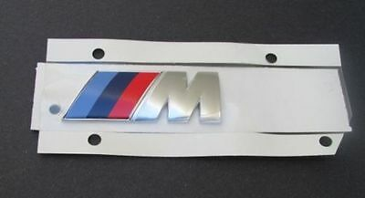 BMW M SPORT TRI COLOR CHROME 3D EMBLEM LOGO BADGE STICKER M-TECH  NEW!