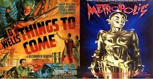 Fritz Lang Metropolis + H G Wells Things to come classic sci fi double bill dvd