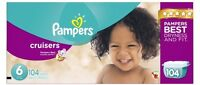 Diapers - Pampers cruiser size 6