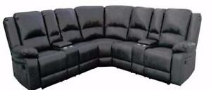 3 AIR LEATHER SECTIONAL W/ 4 RECLINERS $ 1898