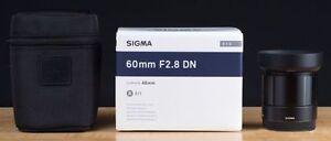 Sigma 60mm f/2.8 DN Lens for Micro Four Thirds Camera