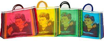 #940 Pack of 12 Tote Bag Frida Kahlo Reusable Market Mexico Artisan Wholesale