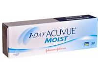 Acuvue Moist Contact lenses New and Boxed 8.50 and 9.00 bc available