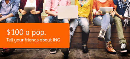 Free $100 - Sign up for an ING Everyday Account