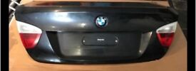 BMW e90 boot lid black