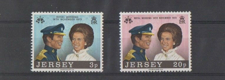 Jersey 1973 Royal Wedding SG 97-98