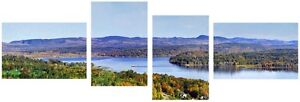 Autumn print of Grand Bay-Westfield on 4 canvas panels