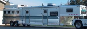 4 STAR DELUXE 4 HORSE ALUMINUM TRAILER/ CHECK OUT THE VIDEO