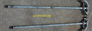 Electrical Conduit Benders (1/2 & 3/4 inch)