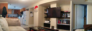 Bright 2 bedroom basement suite close to LRT and Mount Royal Uni