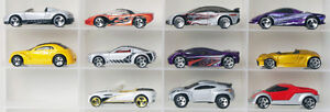 Lot of 11 real concept cars Hot Wheels diecast cars 1:64