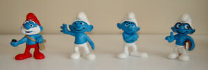 Collection of Character Smurfs - Made in West Germany