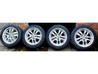 BMW 3 series, e90,Double Spoke Alloy Wheels 16 inch, 205/55R16