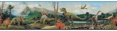 100 Million Years Ago Prehistoric Dinosaur Sure Strip Wallpaper Border SB7736BD