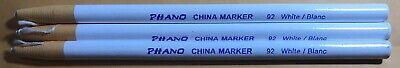 Phano China Marker White 92 00092 Peel Off Grease Pencil- Lot Of 3