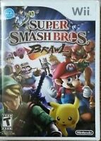 Super Smash Bros Brawl Wii: Case & Manual ONLY