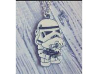 Stormtrooper Pendant Necklace.