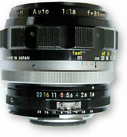 Nikon Nikkor 85mm 1.8 AI'd (can include EOS adapter if req.)
