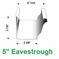 """Seamless continuous eavestrough 5"""""""