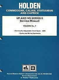 Holden Commodore VP VQ Series II 1991 - 1993 Factory Manual Vol 7 Blacktown Blacktown Area Preview