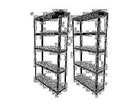 HEAVY DUTY 175kg/shelf BLACK Storage shelves 180cm x 90cm x 30cm Metal Racking Garage £80 delivery