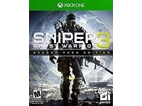 sniper ghost warrior 3 & season pass , xbox one , brand new ! Price stands , no offers !