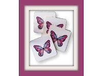 VINTAGE BUTTERFLY COASTERS AND PLACEMATS