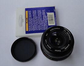 Vivitar 28mm F/2.8 Wide Angle Lens Pentax P/K PK K Bayonet Fit + Hoya Polariser Filter