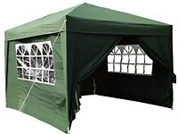 Airwave 3x3mtr Pop Up Waterproof Gazebo Green with 2 WindBars and 4 Leg Weight Bags
