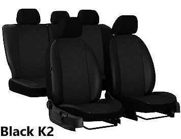 CITROEN C4 PICASSO 5 SEATS Mk2 2013 ON ECO LEATHER EMBOSSED TAILORED SEAT COVERS