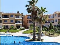 2 bed holiday garden apartment in Paphos, Cyprus . complex with pool. free Wifi, UK T.V.