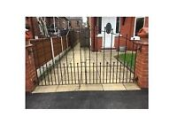 Solid Heavy Duty Wrought Iron Driveway Gates