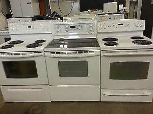 HOME APPLIANCES WASHER/DRYER/FRIDGE/STOVE! FULL 1 YEAR IN HOME PREMIUM WARRANTY!!!