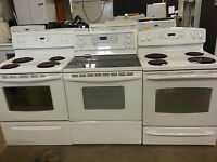 HOME APPLIANCES WASHER/DRYER/FRIDGE/STOVE! 1 FULL YEAR WARRANTY!