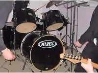 22inch Black Mapex Drum Kit Used