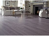 Brand New 5 x 4 yd Millenia Grey Click Laminate Flooring, Including Free Underlay & Free Beading