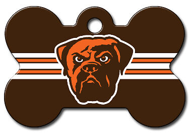 Engraved Nfl Cleveland Browns Pet Id Tags Football