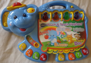 Baby light up and sound toy - touch & teach elephant