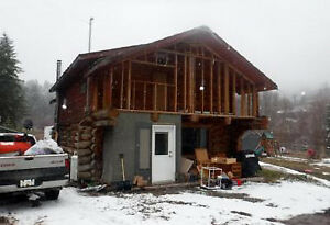 PRIVATE Off-grid 4.9 Acre Log House - Twin Lakes Area