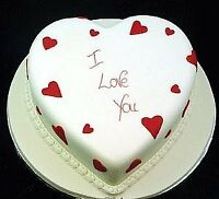 Hearts, gift Cakes on Valentine's Day
