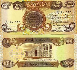 Iraqi Dinar 1000